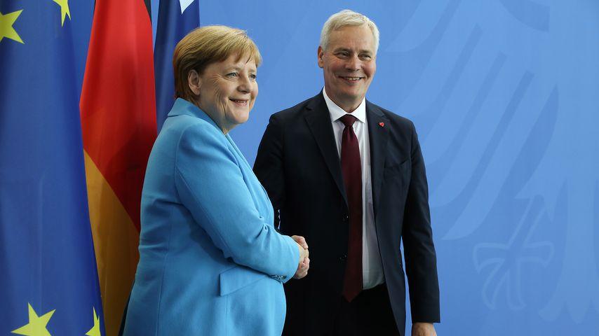 Angela Merkel und der finnische Ministerpräsident Antti Rinne