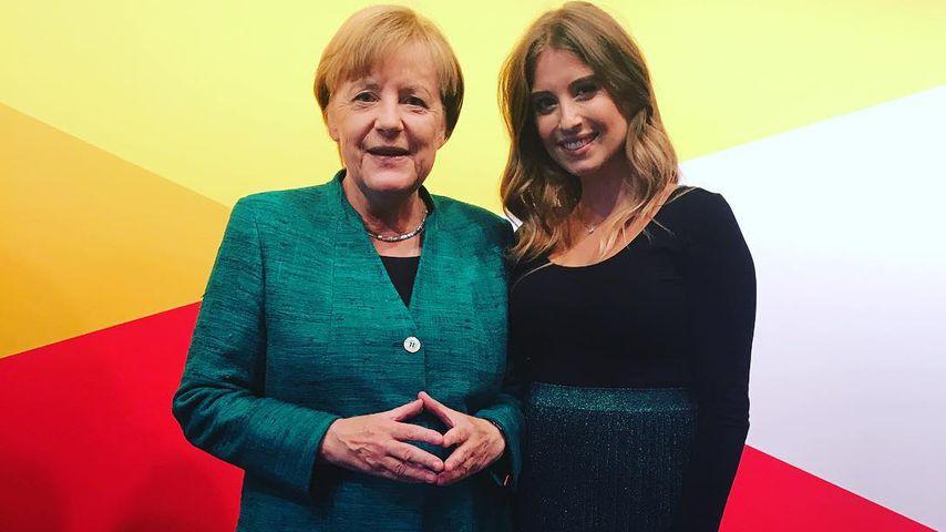 Angela Merkel und Cathy Hummels