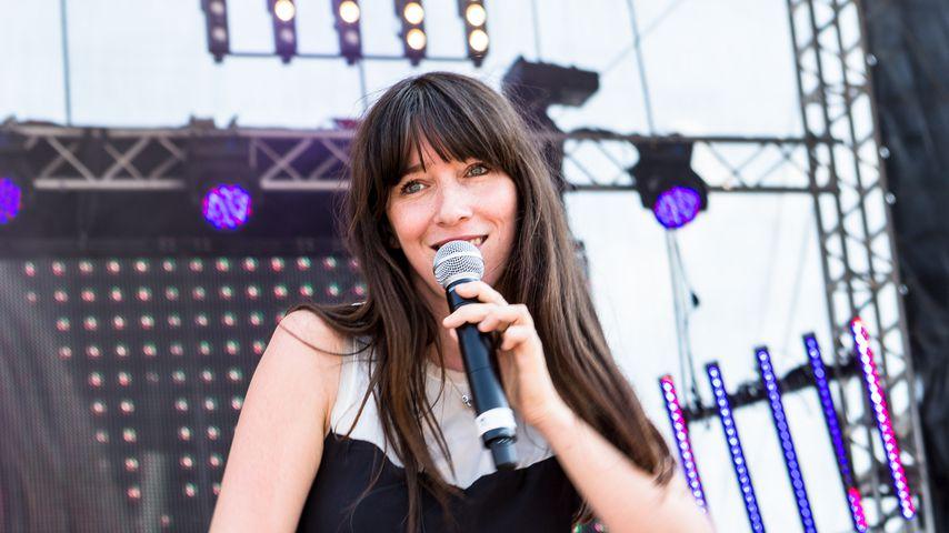 Angela Peltner bei einem Auftritt ihrer ehemaligen Band 3viertelelf