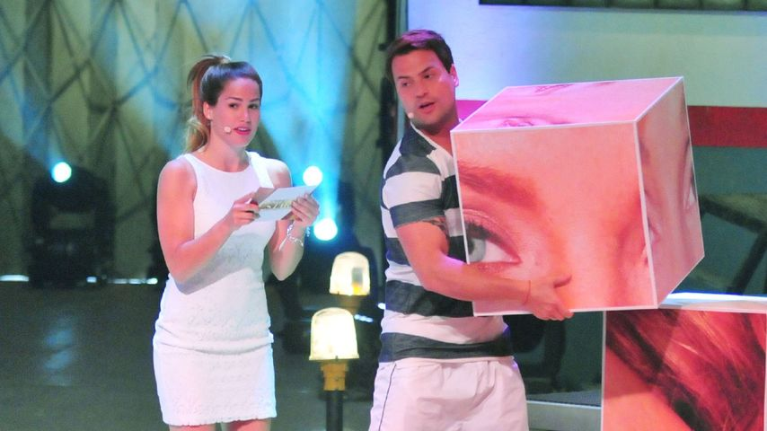 """Angelina Heger und Rocco Stark bei einem Spiel beim """"Sommerhaus der Stars"""""""