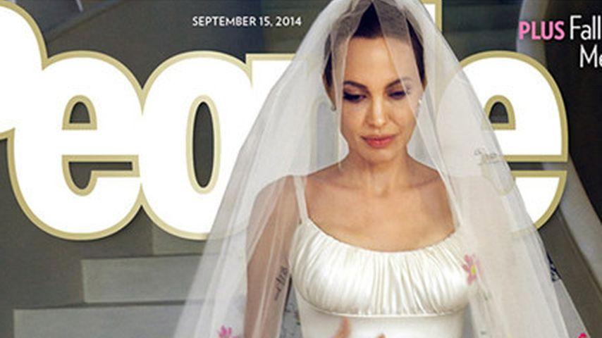 Angelina Jolie bei ihrer Hochzeit mit Brad Pitt
