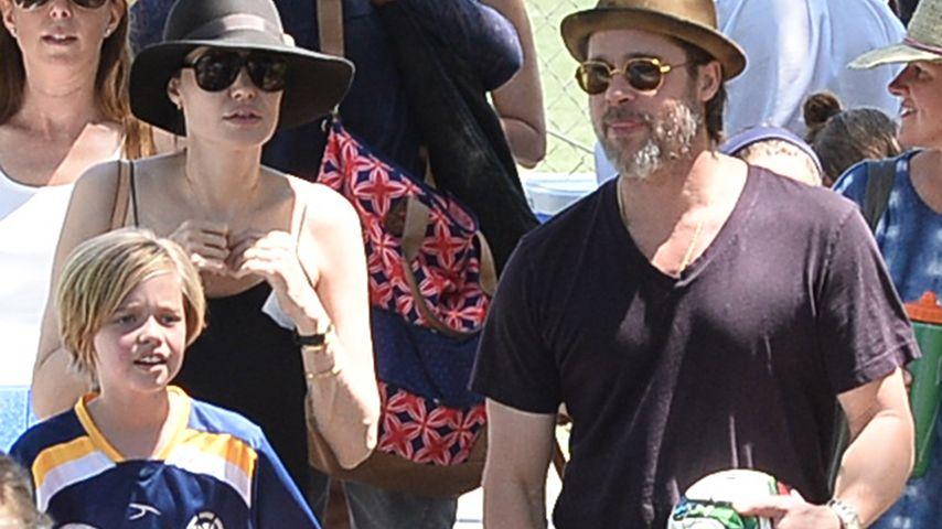 Sauer auf Mama Angelina? Shiloh vermisst Papa Brad Pitt!