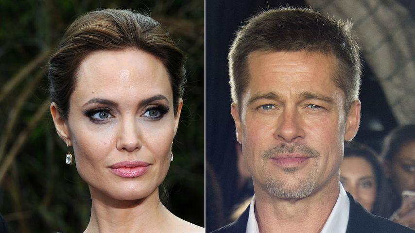 Collage: Angelina Jolie und Brad Pitt