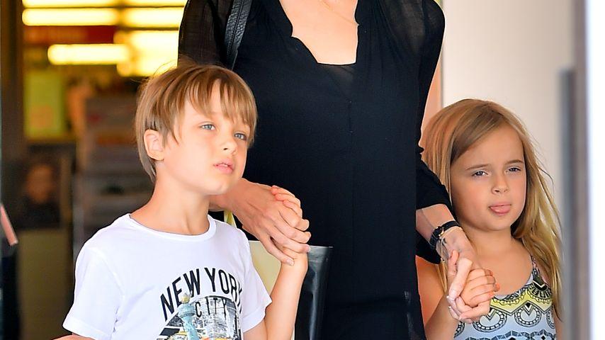 Angelina Jolie, Knox Jolie-Pitt und Vivienne Jolie-Pitt