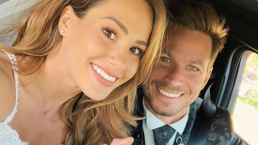 Angelina Pannek und Sebastian Pannek an ihrer Hochzeit