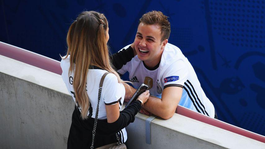 Ann-Kathrin Brömmel und Mario Götze