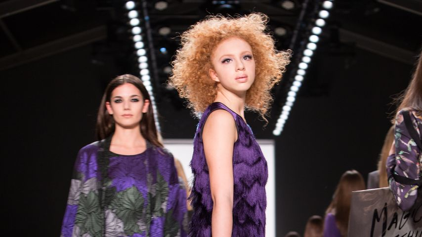 Anna Ermakova während der Mercedes Benz Fashion Week Berlin