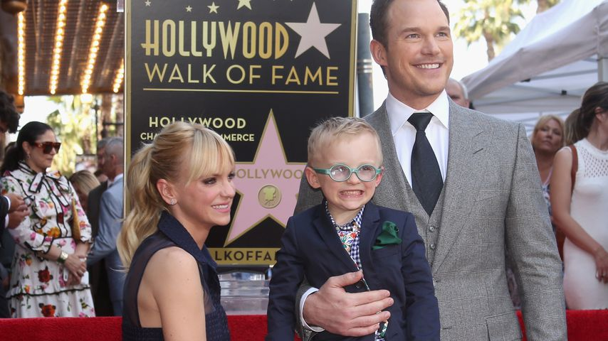 Anna Faris, Jack und Chris Pratt auf dem Walk of Fame in Hollywood