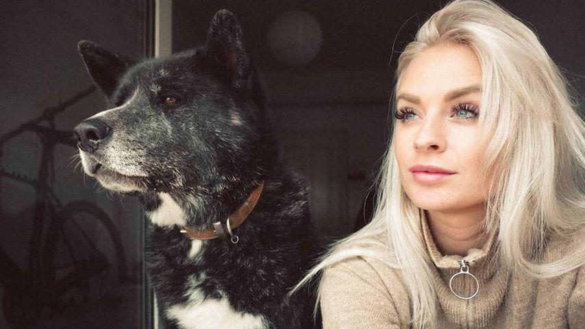Anna Iffländer mit ihrem Hund