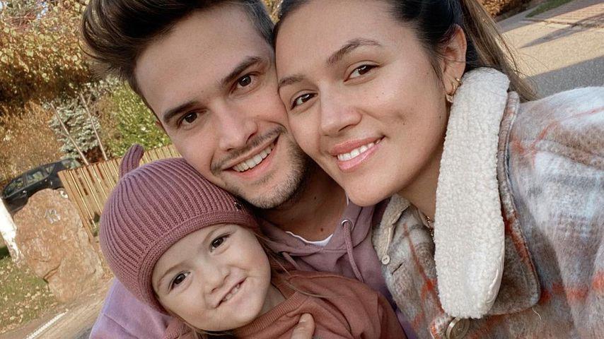 Anna Maria Damm mit ihrem Freund und ihrer Tochter