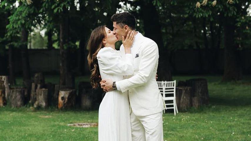 Robert Lewandowski und seine Frau Anna