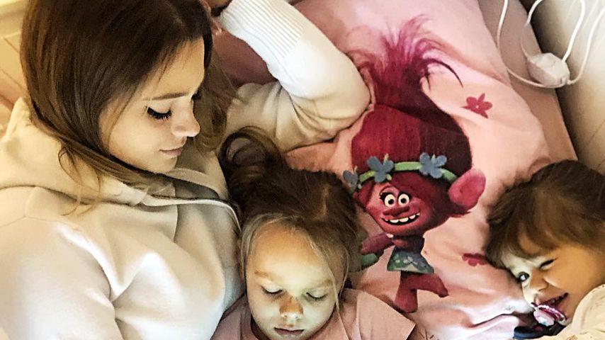 Anne Wünsche mit ihren Kindern Miley und Juna