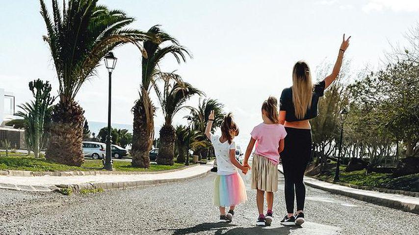 Anne Wünsche (r.) Mit ihren Kindern Juna und Miley Merten