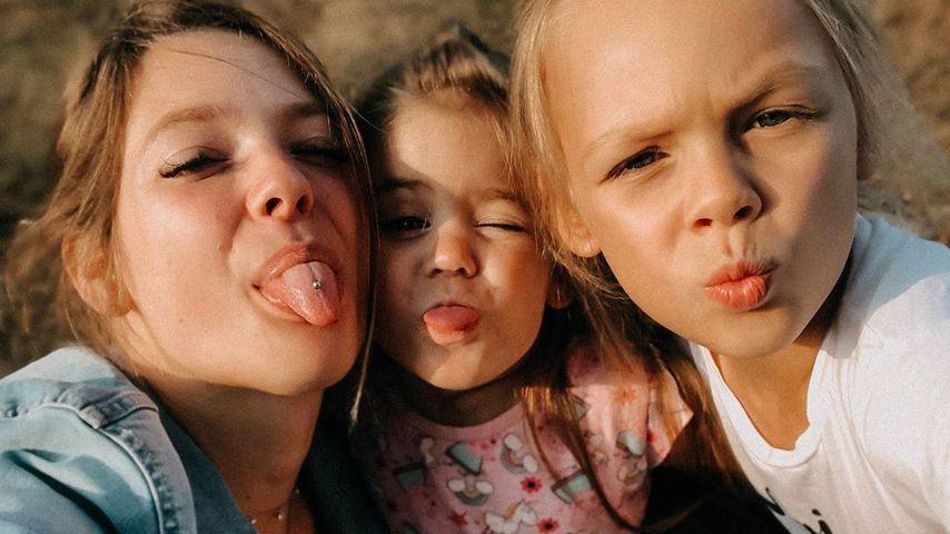 Anne Wünsche mit Juna und Miley