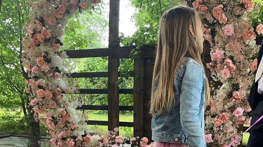 Anne Wünsches Tochter Miley am BTN-Set