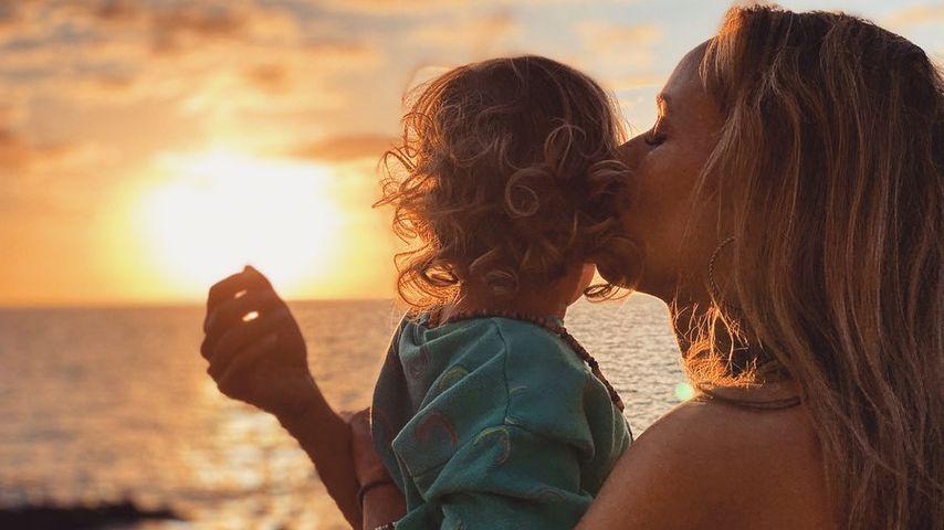 Annemarie Carpendale mit Sohn Mads, Februar 2020