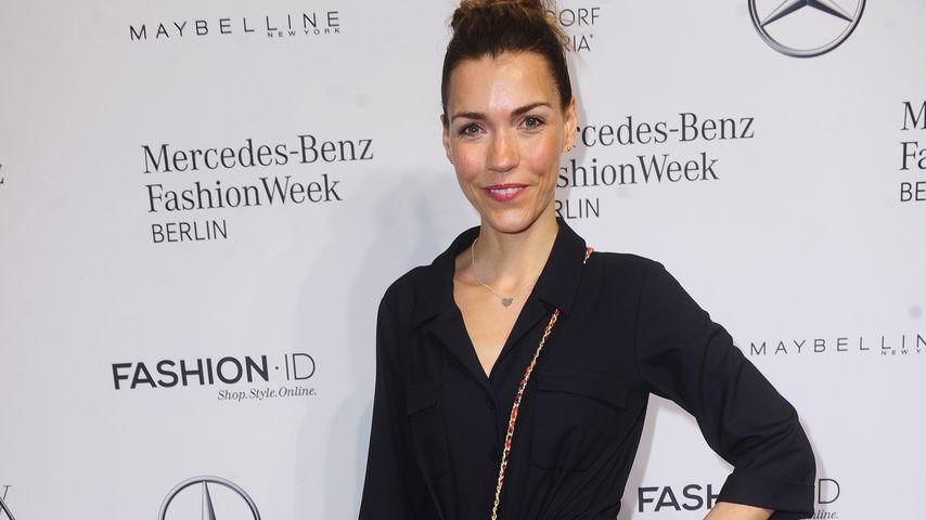 Moderatorin Annett Möller auf der Berlin Fashion Week 2017