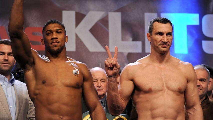 Anthony Joshua und Wladimir Klitschko, Box-Profis