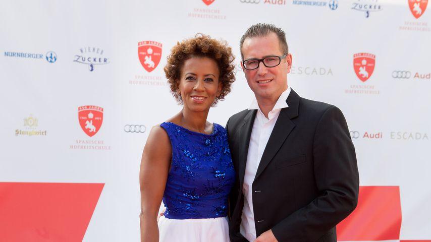 Arabella Kiesbauer mit ihrem Mann Florens Eblinger