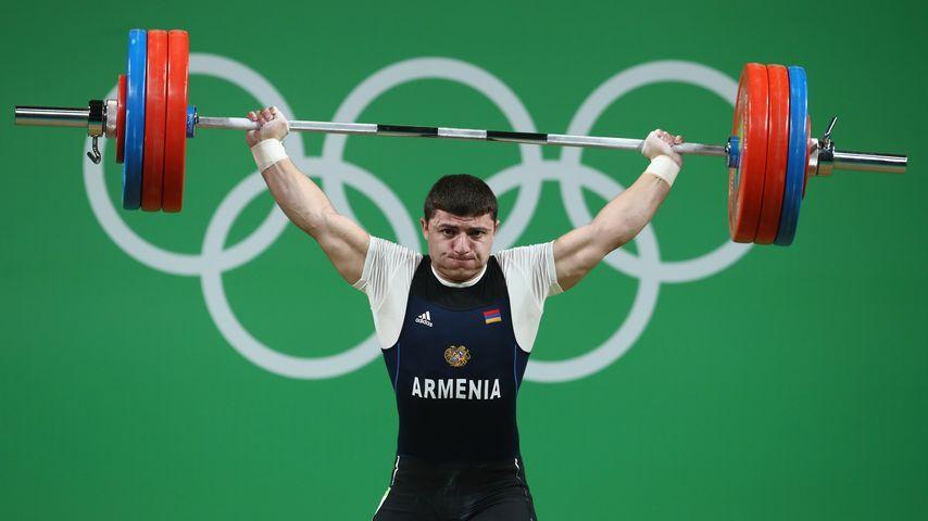 Armeniens Gewichtheber Andranik Karapetyan bei Olympia 2016