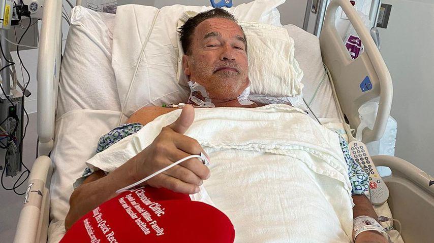 Arnold Schwarzenegger in der Cleveland Klinik im Oktober 2020