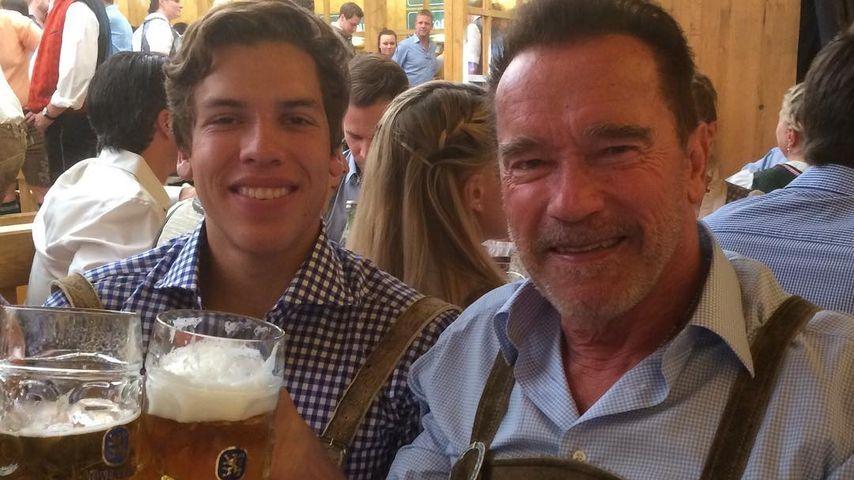Endlich! Arnie zeigt sich erstmals mit Heimlich-Sohn Joseph