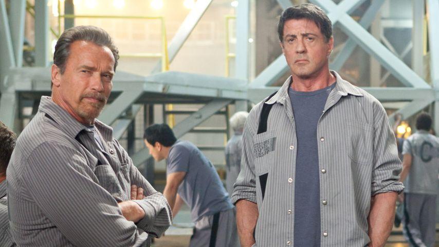 """Arnold Schwarzenegger und Sylvester Stallone in """"Escape Plan"""""""