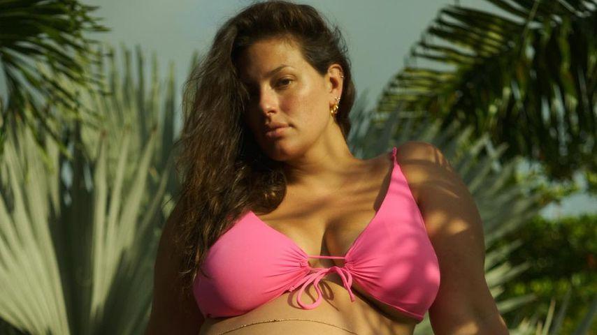Im Bikini: Ashley Graham zeigt ihren riesigen Babybauch