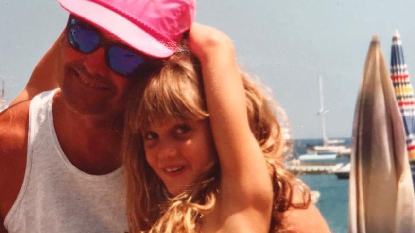 Kinderfoto von Ashley Roberts und ihrem Vater