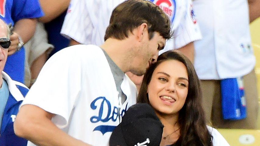 Ashton Kutcher & Mila Kunis: Verliebtes Date kurz vor Geburt