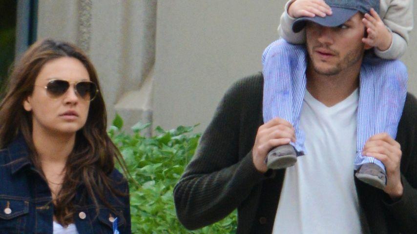 Niedliche Kombi: Ashton Kutcher mit Kind unterwegs