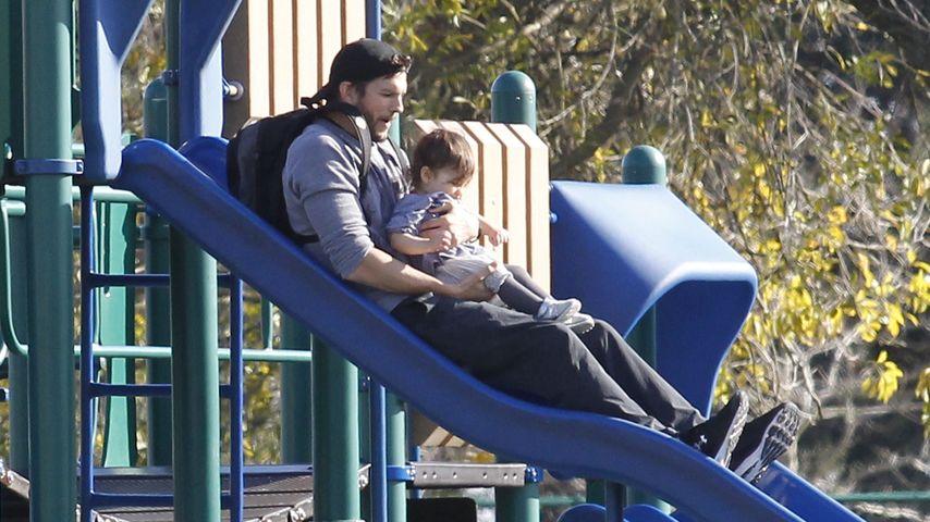 Ashton Kutcher und Tochter Wyatt 2016