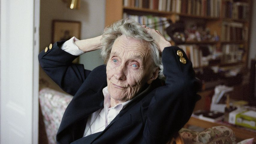 Astrid Lindgren im April 1977 in Stockholm