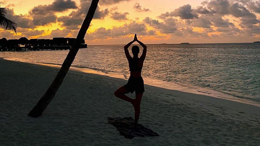 Aurora Ramazzotti beim Yoga
