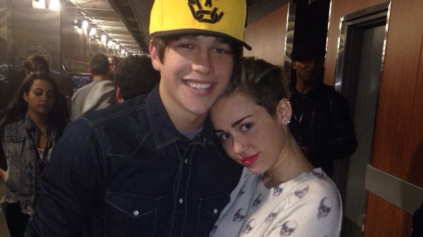 Austin Mahone und Miley Cyrus 2013