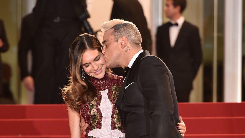 Ayda Field und Robbie Williams 2015 in Cannes