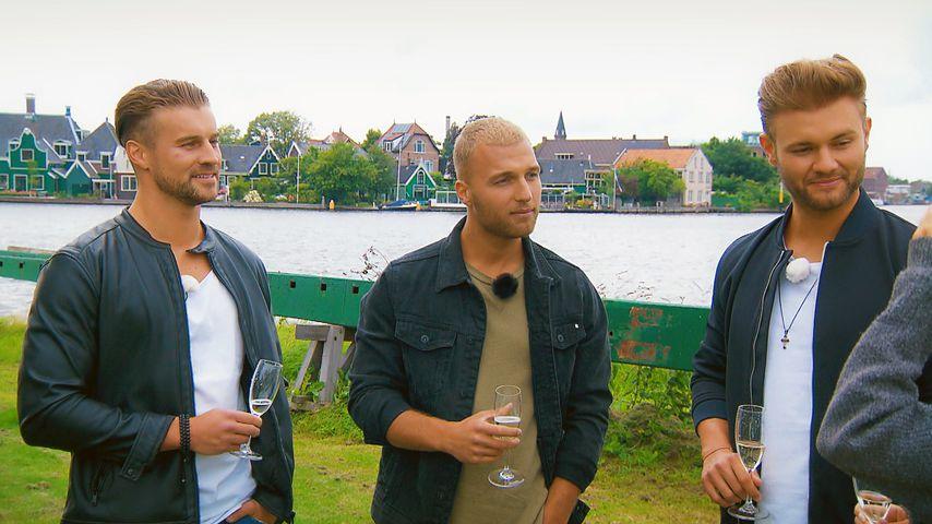 """Alexander Hindersmann, Filip Pavlovic und Daniel Lott in Holland, """"Die Bachelorette"""""""