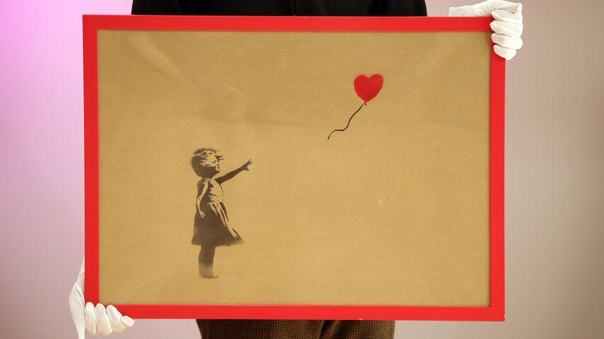 Bildschredderer Banksy: Justin und Co. lieben seine Kunst!