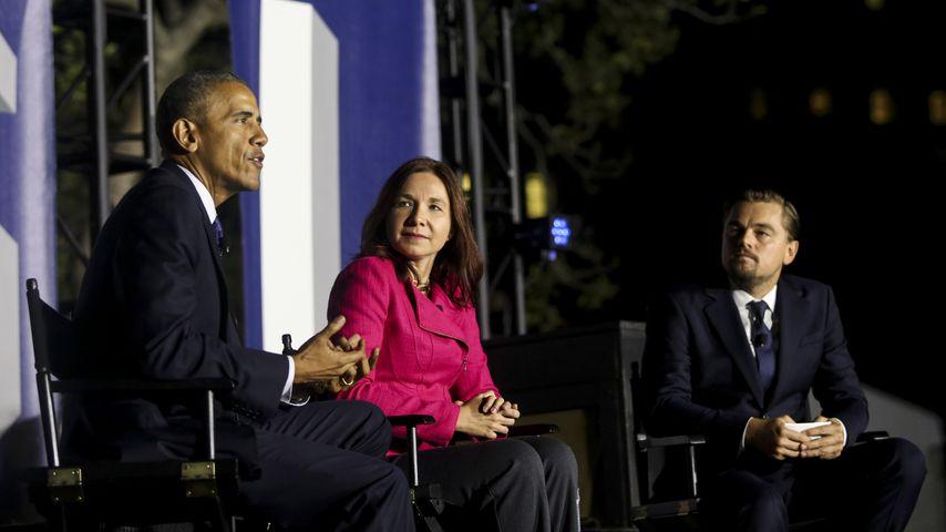 Barack Obama, Dr. Katharine Hayhoe und Leonardo DiCaprio auf dem SXSL-Festival in Washington