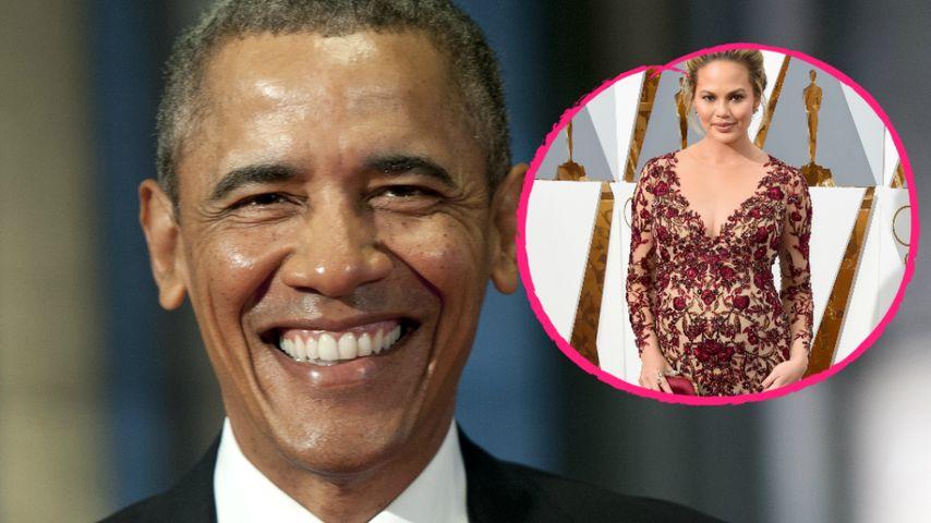 Für Baby-Namen: Chrissy Teigen fragt Präsident Obama um Rat!