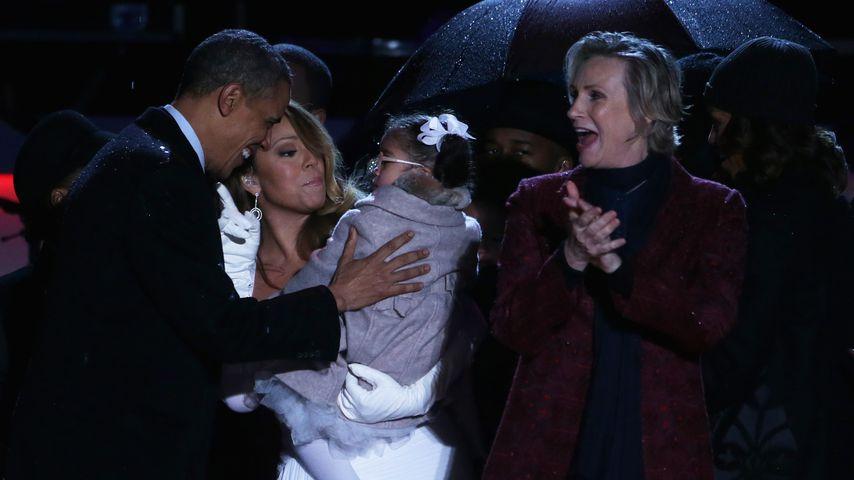 Barack Obama, Mariah Carey und ihre Tochter Monroe