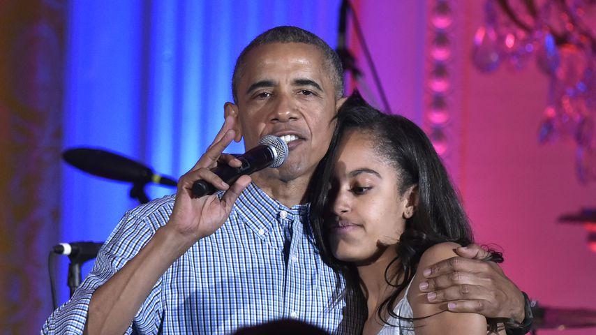 Barack Obama und seine Tochter Malia