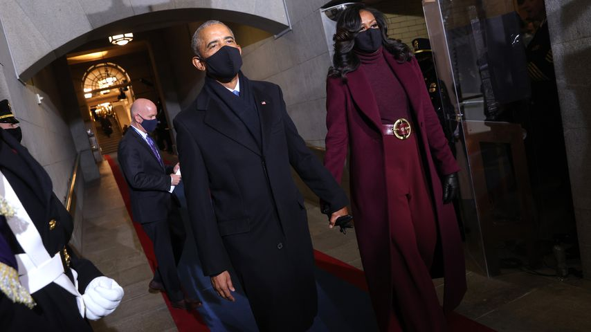 So stylish kamen die Obamas zu Joe Bidens Vereidigung
