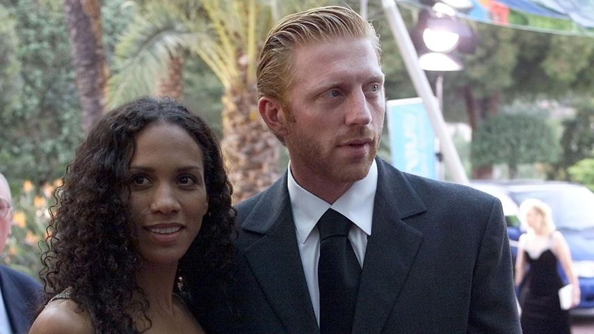 Barbara Becker und Boris Becker in Monte Carlo, Monaco, 2000
