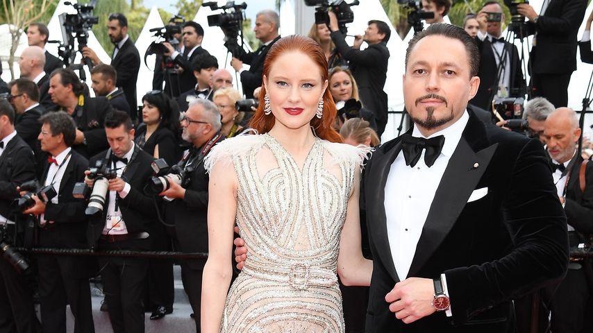 Barbara Meier und Klemens Hallmann im Mai 2019 in Cannes