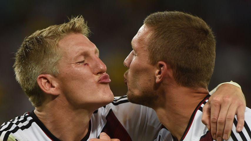 Bastian Schweinsteiger und Lukas Podolski bei der WM 2014