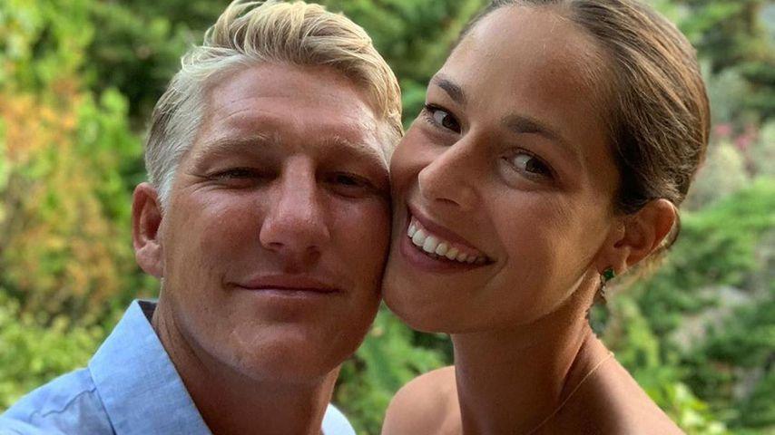 Bastian Schweinsteiger und seine Ehefrau Ana Ivanović