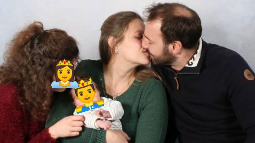 Bauer Christian und seine Frau Barbara mit ihren Kindern
