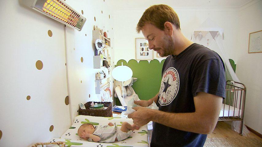 Bauer Gerald mit seinem Sohn Leon