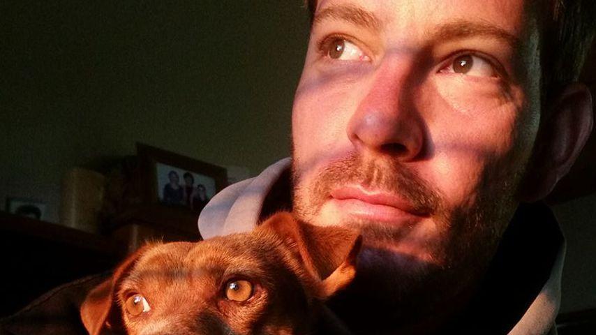 Bauer Gerald mit seinem Hund Alfie